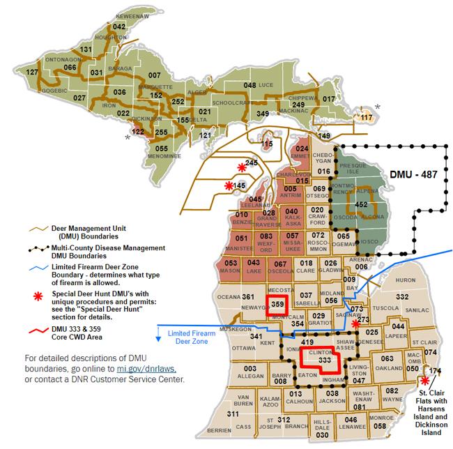 Deer Management Unit Map 2019